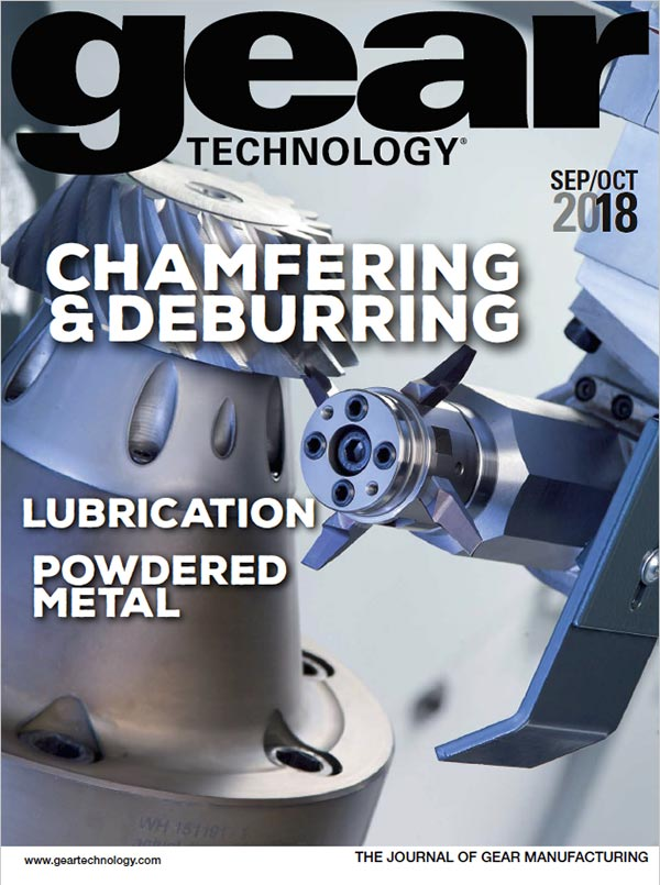 PDF Cover for Gear Technology - Sept 2018